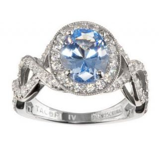 Tacori IV Diamonique Epiphany Simulated Vivid Blue Ring —