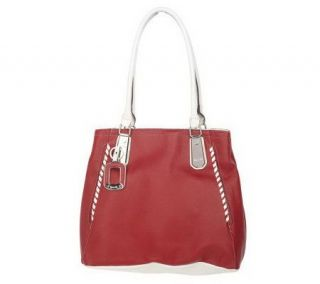 Tignanello Pebble Leather Tote Bag with Contrast Trim —
