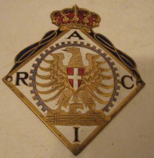 RACI PORCELAIN ROYAL AUTO CLUB OF ITALY SIGN CAR BADGE EMBLEM