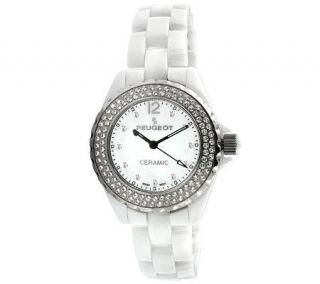 Peugeot Womens Swiss Swarovski Crystal Silvertone Bezel Watch