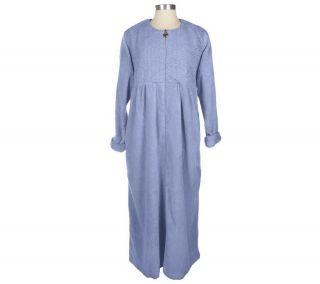 Stan Herman Zip Front Chenille Caftan Robe —