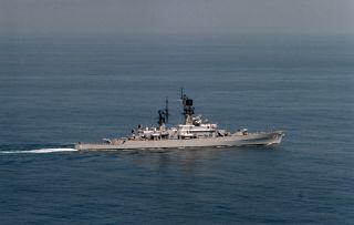 USS Halsey CG 23 Westpac Deployment Cruise Book Year Log 1976 77 Navy