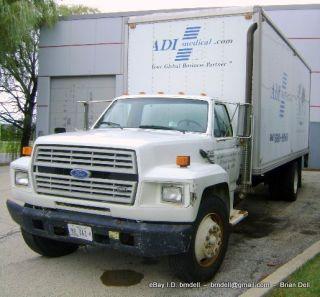 Ford F 700 Van Box Cube Cargo Moving Truck Runs 22 Lift Gate 1993