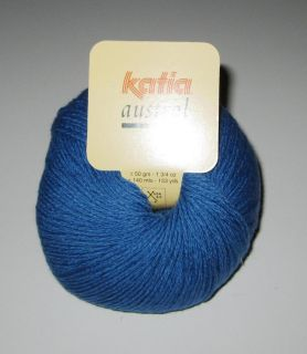 10 Balls Blue Katia Austral Merino Wool Sport Weight Knitting Yarn 99