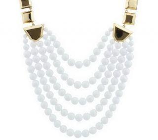 As Is Luxe Rachel Zoe Geometric Link Bead Necklace   J275840