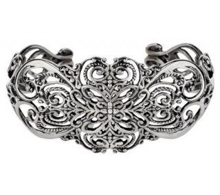 Carolyn Pollack Sterling Silver Heart Cuff Bracelet 30.5g   J274000