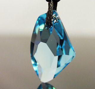 Blue Diamond Genuine Swarovski Crystal Necklace Chain