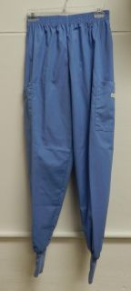 Crest Ceil Blue Uniform Scrub Pants Knit Cuff XS Petite 191 New