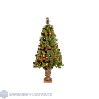 Crestwood Spruce 5 ft Full Pre Lit Christmas Tree with White Lights