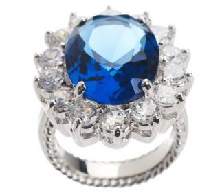 Kenneth Jay Lanes Princess Simulated Sapphire Ring   J159017