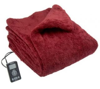 Sunbeam LoftTec Plush Queen Size Heated Blanket —