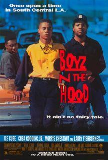 THE HOOD Movie Promo POSTER Larry Fishburne Ice Cube Cuba Gooding Jr