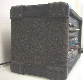 are bidding on a used Crate PCM 6 Powered Mixer for Parts or Repair