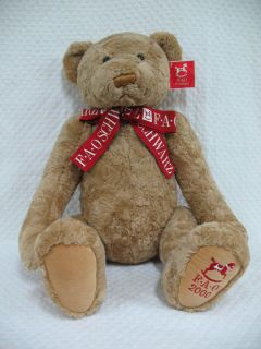 23 FAO SCHWARZ 2000 brown TEDDY BEAR PLUSH Collectible TOY STORE FIFTH