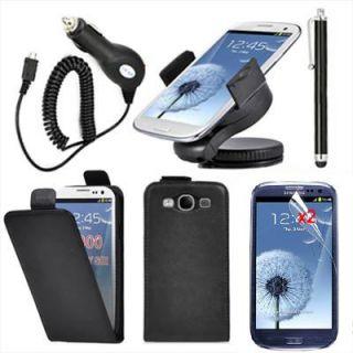 6en1 Funda Cuero Soporte Cargador coche Protector Para Samsung Galaxy