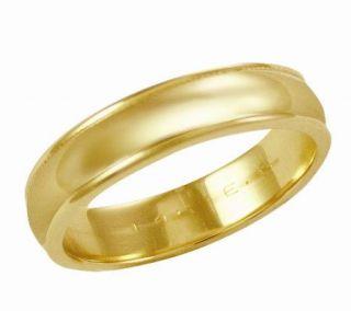 EternaGold 5mm Yellow Gold Silk Fit Wedding Band Ring, 14K   J106279