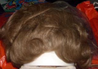BOUTIQUE HUMAN HAIR LARGE WIGLET HAIR ACCESSORY LT BROWN COLOR 15 ADDS