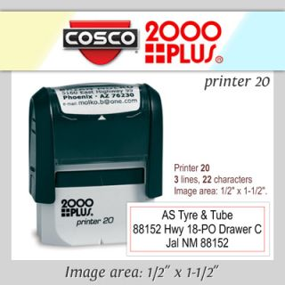 Top Selling New Cosco P20 Custom 3 Line Return Address Self Inking