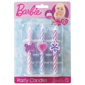 BARBIE Birthday Party Candles Kids Cake Cupcake Topper PRINCESS