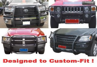 Brand New 1 Piece Construction Black Grille Bumper Guard + Mounting