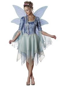 Woodland Fairie Fairy Premium Deluxe costume NEW angel wings