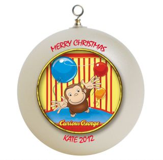 Personalized Curious George Christmas Ornament Add Name