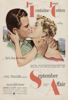 Affair 1951 Vintage Movie Ad Poster Joan Fontaine Joseph Cotten
