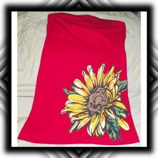 red yellow sun flower med womens strapless t shirt cotten rue 21