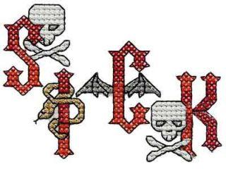 Heavy Metal Cross Stitch Alphabet Machine Embroidery Designs