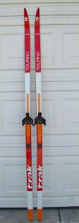 used trak nowax t 1000 cross country skis features normal wear