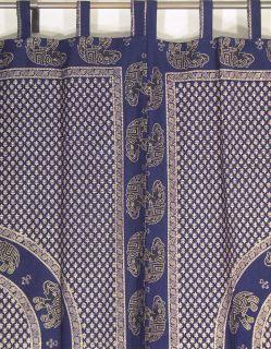 Indian Curtains 2 Elephant Cotton Window Treatments Ethnic Panels