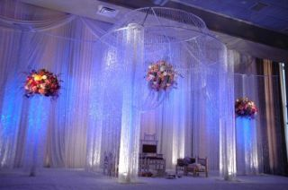 Beaded Curtains Multi Diamond Cut Pink Hanging Beads for Wedding