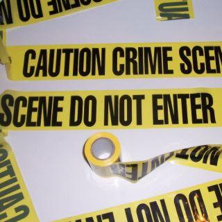 100 Caution Crime Scene do not Enter Party Yellow Barricade Police