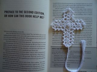 Day Gift New Handmade Crochet Bookmark Cross Beaded White Pearl Doily