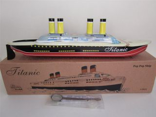 POP POP Boat CRUISE SHIP Putt vtg style Tin Candle Steam Power New Box