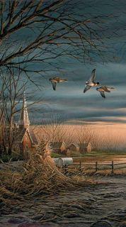 Terry Redlin Duck Church Print Country Neighbors