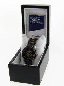 Lord Harris Mens Black Stainless Steel & Ceramtic Watch CN307069