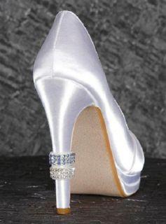 Crystal Heel Rings 2 Blue 2 Rhinestone David Tutera Bridal Wedding