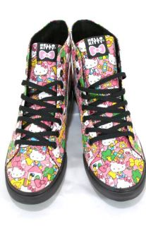 New Vans Sk8 Hi D Lo Hello Kitty Skate Shoe Classic Pink High Top Off