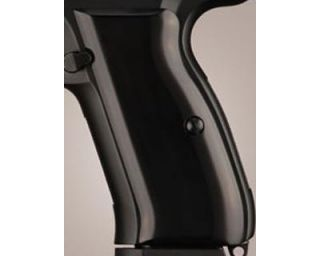 Hogue CZ 75 CZ 85 Grips Aluminum Brushed Gloss Black Anodized 75166