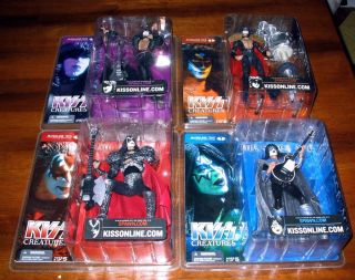 Kiss McFarlane Creatures Action Figure Set 4 Dolls