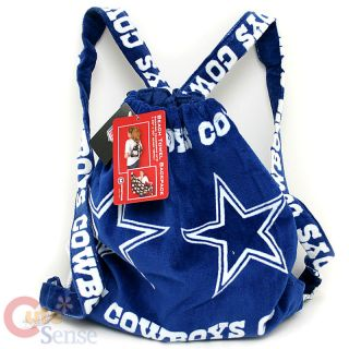 NFL Dallas Cowboys Beach Bath Towel w Backpack 30x60