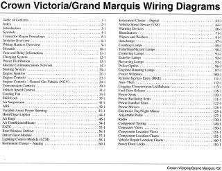 1998 mercury grand marquis wiring diagram starting system 1991 crown victoria grand marquis electrical and vacuum ...