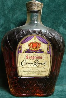 Vintage Seagrams Crown Royal Whiskey Liquor Bottle