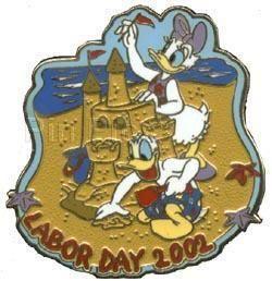 Disney Labor Day 2002 Daisy Duck Donald Duck Pin
