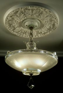 30s Amazing Crystal Ceiling Light Fixture Chandelier