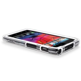 RAZR Maxx Protector Case Snap on Phone Cover Crystal Clear