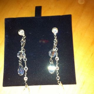 Swarovski Crystal Drop Earrings, extra long, glamour & sparkle 100%