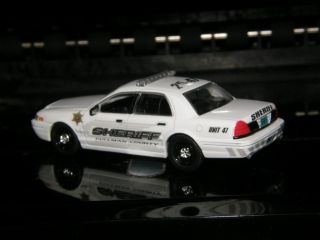 CUSTOM Cullman County Alabama Sheriff Crown Vic 1 64 diecast