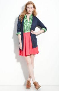 Splendid Cardigan, Gibson Shirt & Collective Concepts Skirt